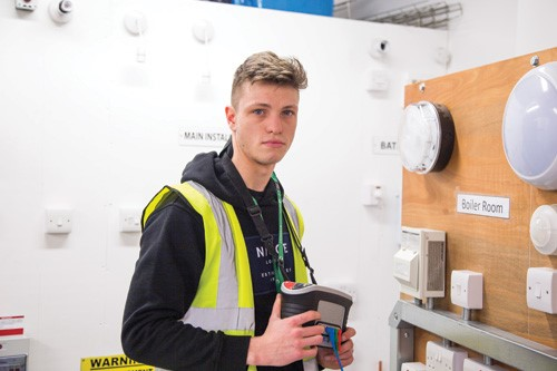 Electrical Installation Apprentice in regional heats of The SPARKS Apprentice of the Year Competition