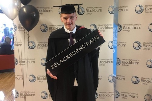 Kieran Achieves His Ambition After Successful Blackburn College Journey